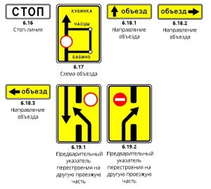 Информационные знаки ПДД