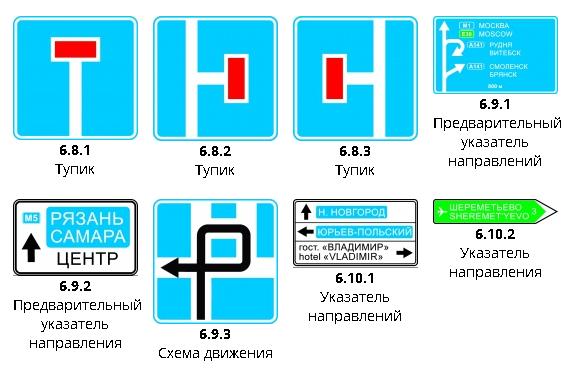 Информационные знаки ПДД2