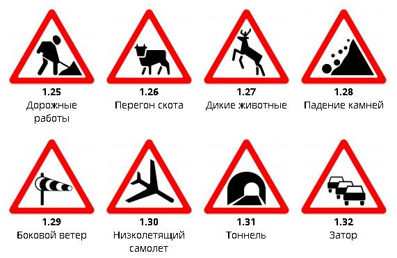 Предупреждающие знаки ПДД6